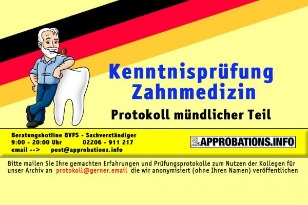 KP Zahnmedizin mündlich
